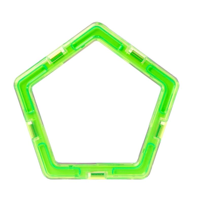 Magnetic Pentagon Building Blocks Designer Construction DIY Brick Matched Toy   634F
