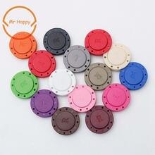 Пара цветных невидимых автоматических магнитных кнопок из ПВХ