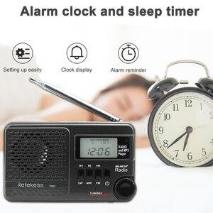Image 5 - RETEKESS TR601 Radio réveil numérique DSP/FM/AM/SW récepteur Radio lecteur Mp3 9K/10K Tuning carte Micro SD et entrée Audio USB
