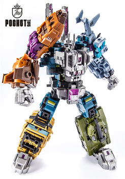 цена на Transformation Bruticus 5IN1 G1 PT05 PT-05 Oversize 27CM Anime Action Figure Robot Kids Toys Combination Deformation Collection