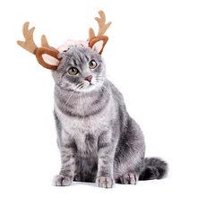 Милые шляпы с изображением лося кошки аксессуары для щенков
