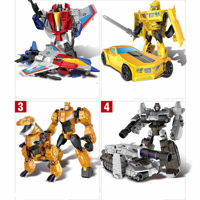 18cm שינוי רכב רובוט צעצועי הדבורה Optimus ראש מגהטרון השקרניקים ג 'אז אוסף פעולה איור צעצוע לילדים מתנה