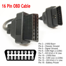 Universal 30CM Car OBD2 Extension Cable 16 Pin OBDII OBD 2 EOBD Extend 16pin Female to Male Connector for Car Diagnostic Tool