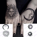 Mode Sexy Männer Frauen Mädchen Temporäre Tattoo Aufkleber Sonne Mond Volle Blume Rose Design Tatoo Hand Arm Art Fake Tattoo aufkleber