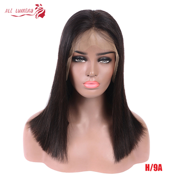 13x4 Short BoB Wig Straight Lace Front Human Hair Wigs For Women Pre Plucked Brazilian 4x4 Lace Closure Wig 180% Virgin Hair Wig