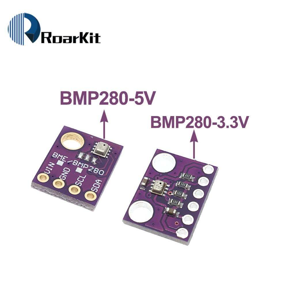 Цифровой датчик температуры и влажности 2-в-1 BMP280 3,3 В I2C SPI 1,8-5 В, модуль барометрического давления для Arduino