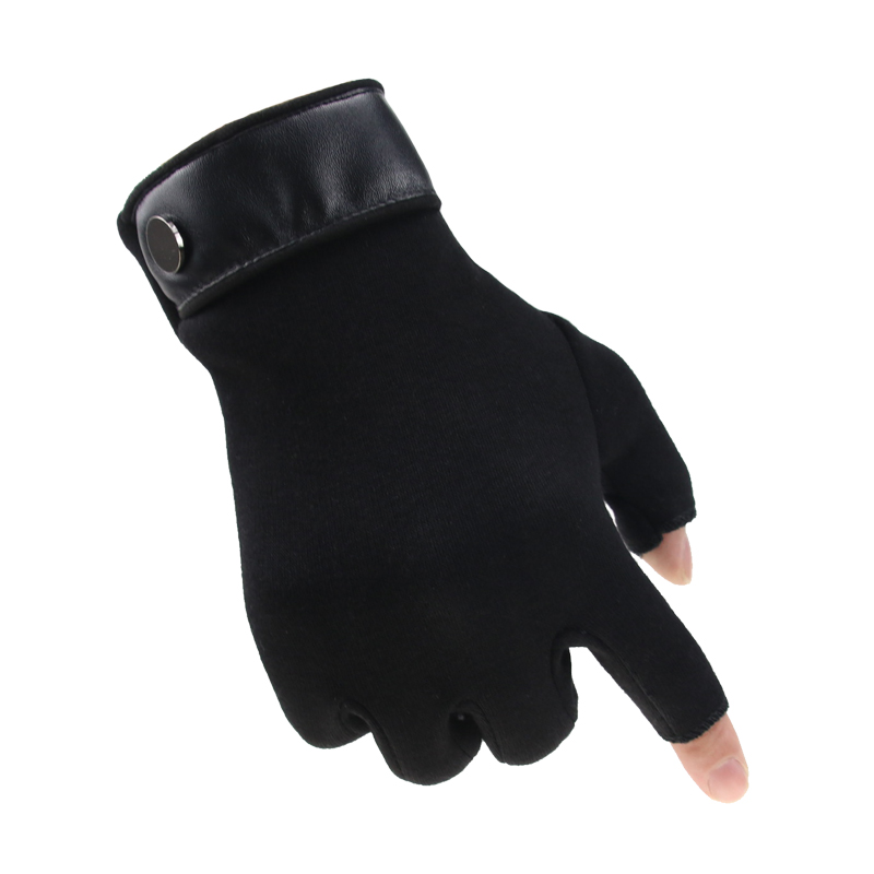 Winter Men Mitten 2 Fingers Exposed Keep Warm Touch Screen Windproof Thin Guantes Driving Anti Slip Outdoor Fishing Male Gloves