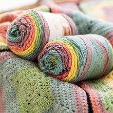 193 М Радуга сегмент окрашенная пряжа 5 нитей шерсти DIY ручной работы вязаный детский свитер шапка шарф диванная подушка