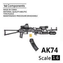 Assembled-Gun Model Weapon Assault Rifle AK74 Soldier Action-Figure-Toy Plastic for 12-1:6