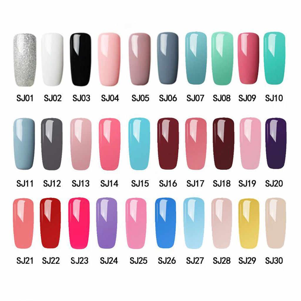 30 Kleuren Pure Gel Nagellak Gel Lak Verf Semi Permanente Nagels Art Gel Nagellak Voor Manicure Top Jas hybrid Primer # E