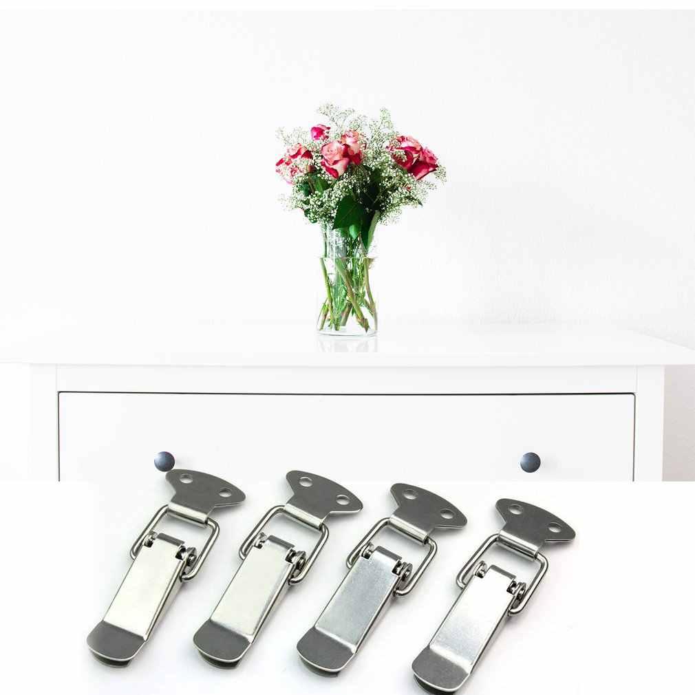 4Pcs תיק תיבת דואר תיק אבזם ברזל ניקל מצופה אבזם נעילת נירוסטה ארגז כלים אבזם סוג קיר רכוב אבזם