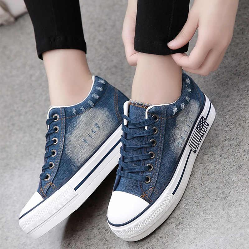 Women Fashion Casual Shoes New Denim