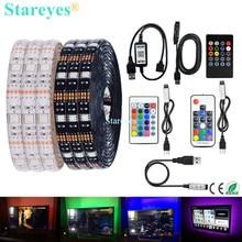 Bande lumineuse RGB 5050, SMD LED, USB 5V DC lumière LED, Flexible, étanche IP20 IP65, 1m 2m 3m 4m 5m, ajouter télécommande pour fond de télévision, ruban adhésif