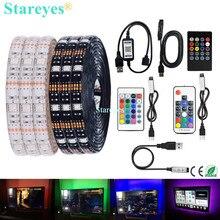 SMD 5050 listwy RGB LED DC 5V USB LED listwa oświetleniowa elastyczna IP20 IP65 wodoodporna taśma 1m 2m 3m 4m 5m dodaj pilota do telewizora w tle