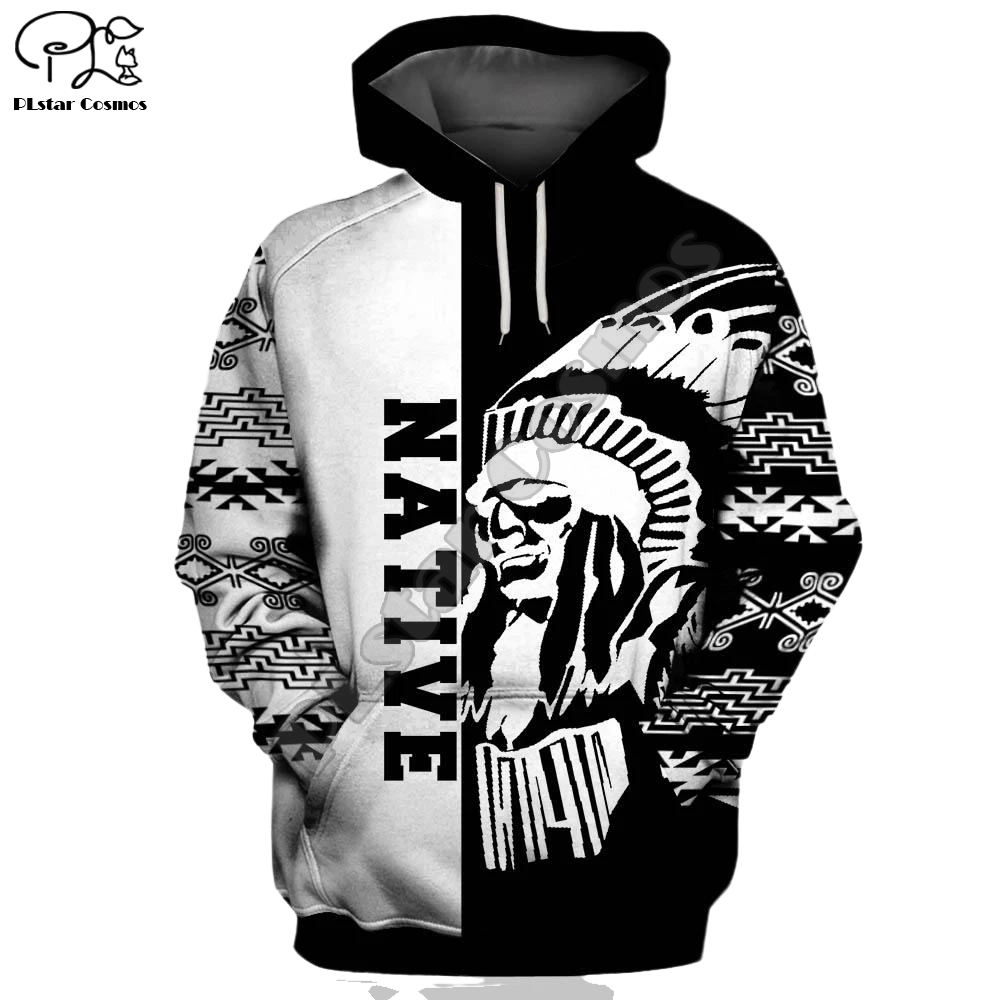 Men Unisex Indian Native printed 3d hoodies Unisex trippy Skull Sweatshirts women Pullover jacket tracksuit pullover Coat 07