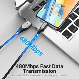 Image 3 - كابل شحن USB Vention MFi, لهاتف iPhone 12 Max 11 Xs X 8 Plus وكابل شحن USB سريع 2.4A لهاتف iPhone 12