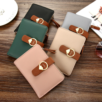 2021 Fashion Clutch Girl Mini Purse Money Clip Wallet For Gilrs Women Small Wallets Female Leather Purse Ladies Card Bag