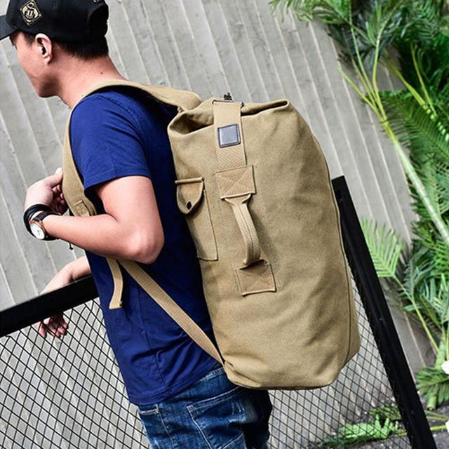 Traveling Backpack Backpack Field Survival Camping Bag High Capacity Canvas Men Outdoor Travel Outdoors Practical Picnic 5