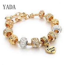 Yada Подарки золотое любовное сердце и браслеты с короной для