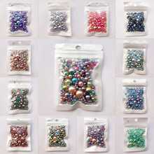 цена на 250Pcs Mix Size 3-12mm Beads with Hole Colorful Pearls Round Acrylic Imitation Pearl Beads DIY for Jewelry Making Accessories