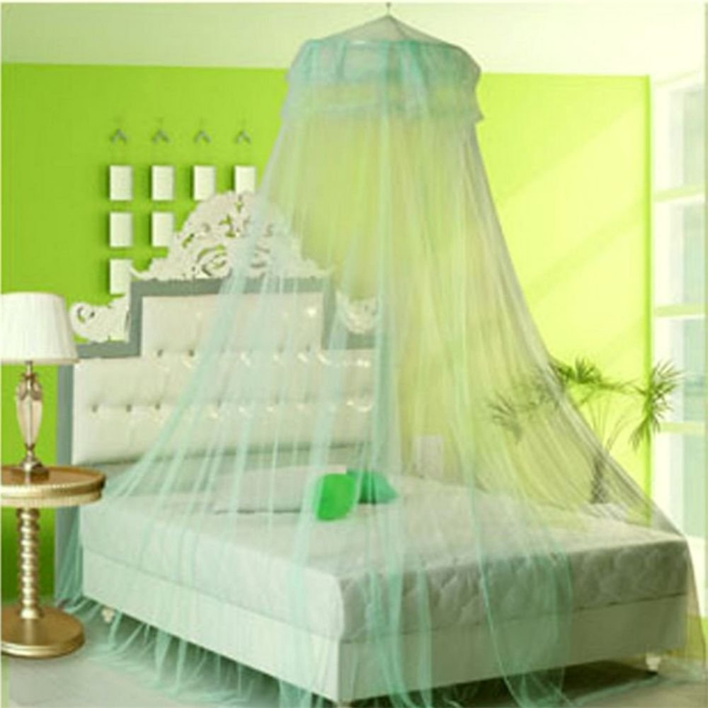 Princess Mosquito Net Curtain Lace Dome Round Hoop Bed Canopy For 1.5-1.8M Bed Girl Bed Room Decor Decoration #2