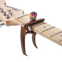 Excelente metal guitar capo ajuste clipe de guitarra capo para guitarras elétricas acústicas baixo ukulele com picaretas titular