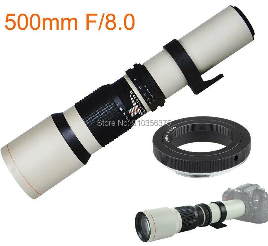 Jintu 500 мм/1000 мм f/8 Руководство телеобъектив для цифровой