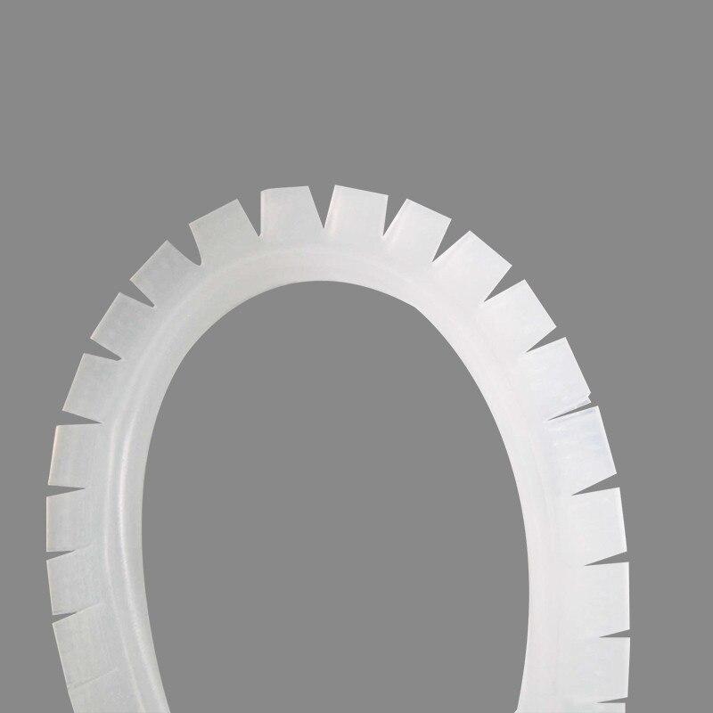 Serrated Edge Grommet Strips White Polyethylene grommet strip panel.