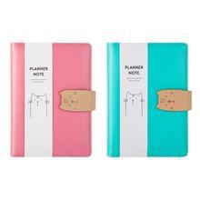 Kawaii Cat Journal Sketchbook Spiral Binder Travelers A6 Notebook Planner Notepad Office School Supplies D08B