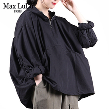 Max LuLu European New Fashion Clothes Women Casual Loose Hoooded Hoodies Ladies Vintage Punk Sweatshirts Ovoversized Streetwear