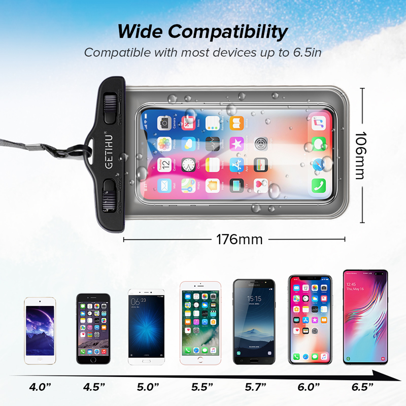Waterproof Phone Case Swim Pouch Bag For Androids, and iPhone 5