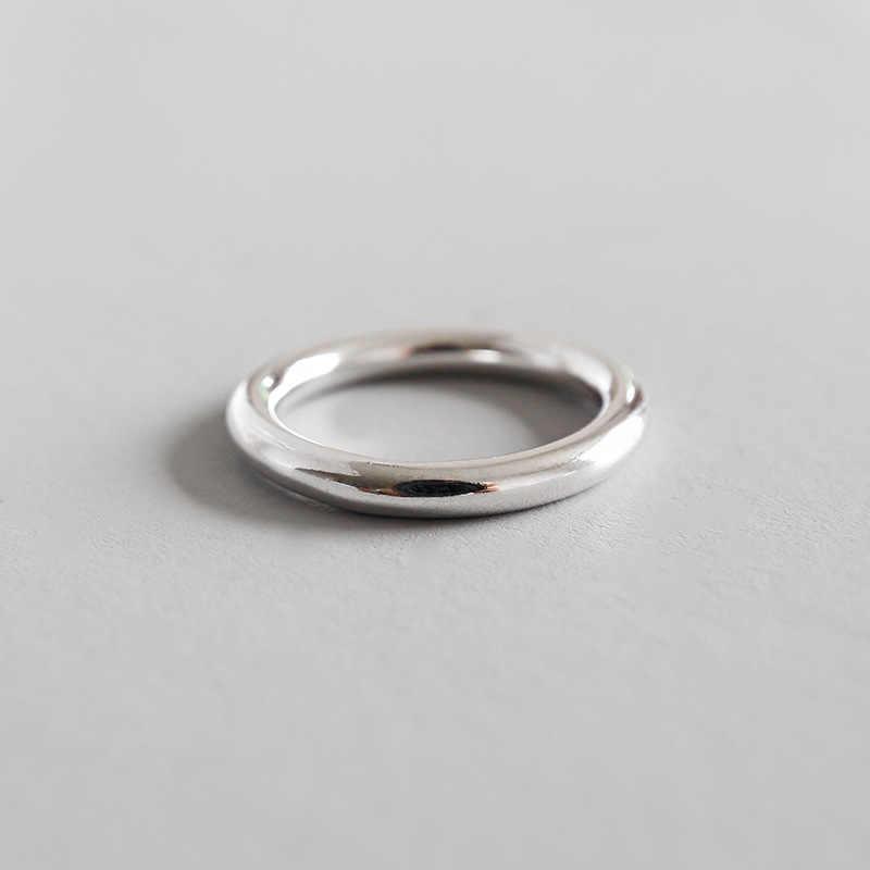 BALMORA 990 الفضة النقية الجولة داينتي خواتم للنساء الرجال ميدي المفصل خاتم مصمم من أجزاء متراصة حفلة هدية مجوهرات الأزياء Anillos HFYR003