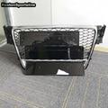 RS5 Q стиль с 4 кольцами Логотип передний бампер сетка решетка для Audi A5 2008 ~ 2011