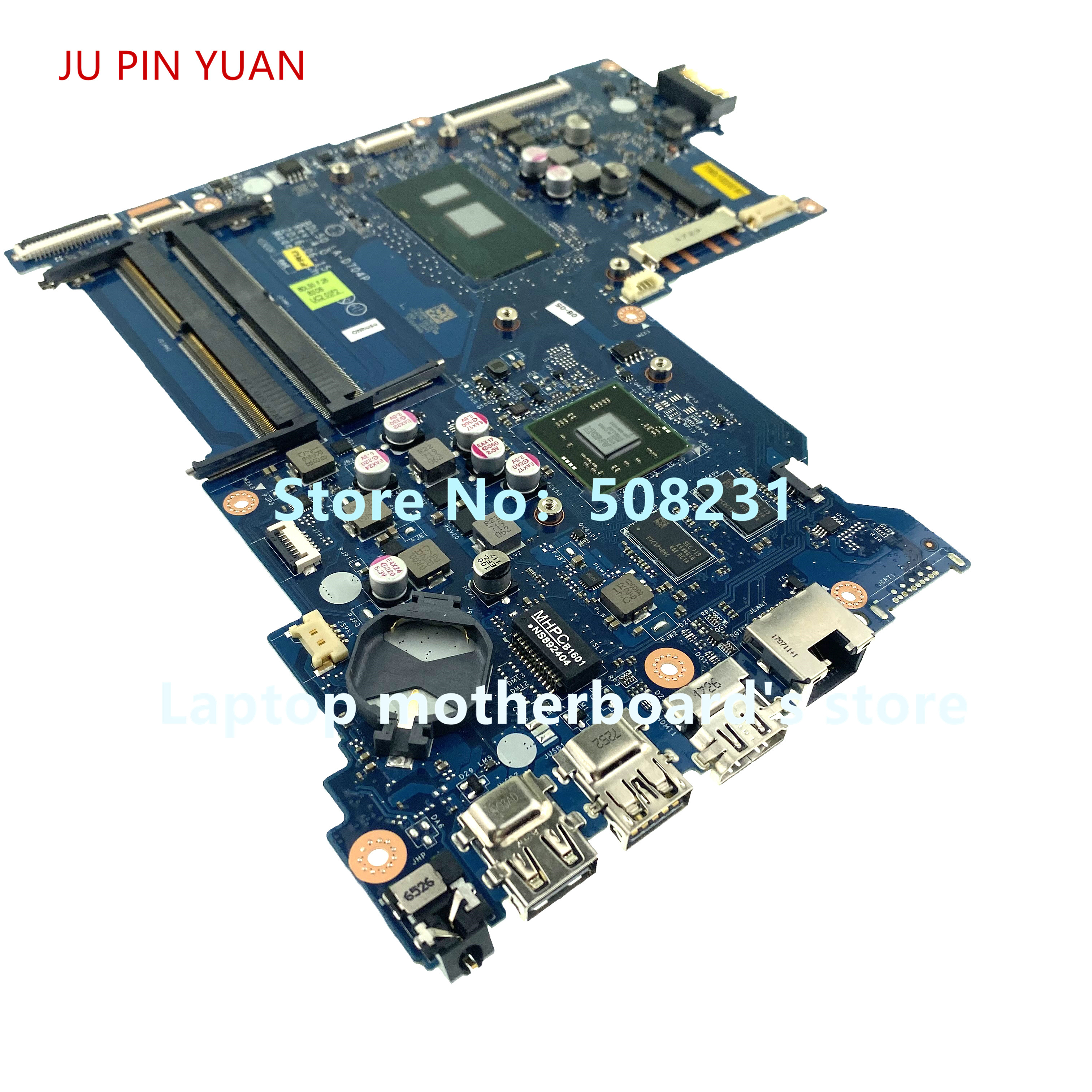 JU PIN YUAN BDL50 LA-D704P For HP 15-AY 15-be Laptop Motherboard  R7M1-70 2GB I7-6500U  858868-601 858868-501 858868-001