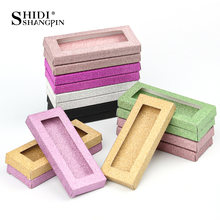 Toptan 50 adet ambalaj kutusu kirpik boş kirpik paketi renkli kağit kutu kirpik DIYflash ambalaj kutuları makyaj