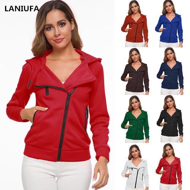 Autumn Winter Harajuku Hoodies Women Sweatshirts Hooded Tops Women Hoodies Casual Long Sleeved Thickening Zipper Coat Mujer Y806