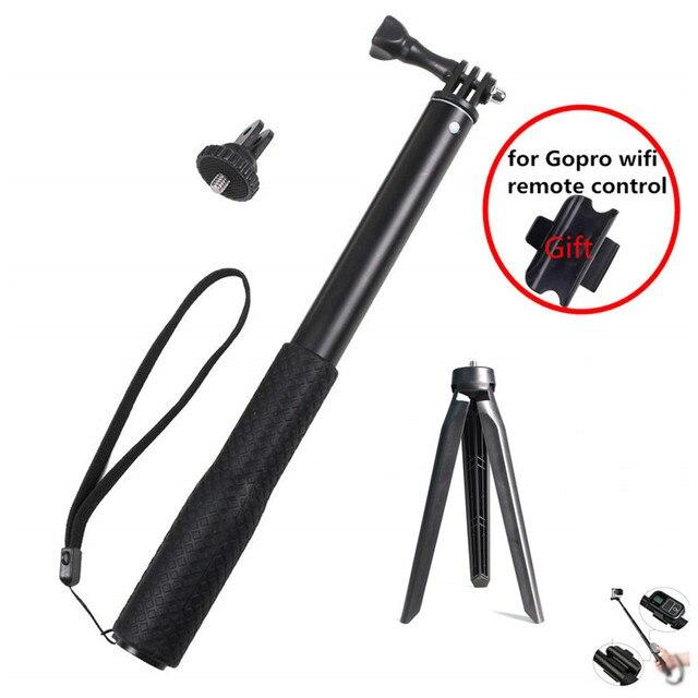 Aluminum Rubber Waterproof Selfie Stick,Extendable Handheld Monopod Adjustable Tripod for Gopro Hero 7 6 5 4 & YI 4K for DJI SJ