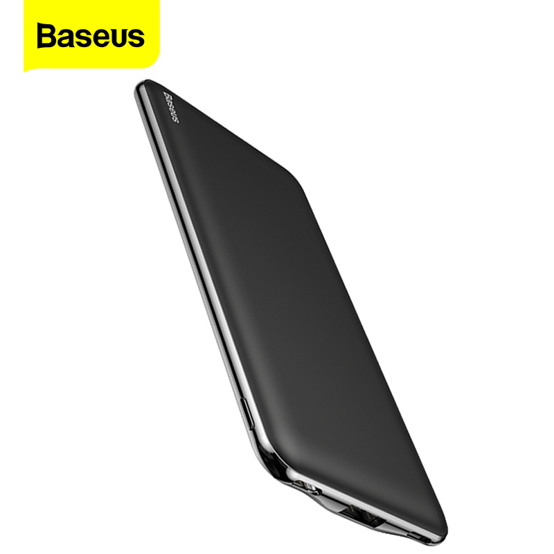 Baseus Ultra Slim 10000mAh Power Bank USB Type C 3A Fast <font><b>10000</b></font> <font><b>mAh</b></font> Powerbank Portable External Battery Charger For iPhone Xiaom image