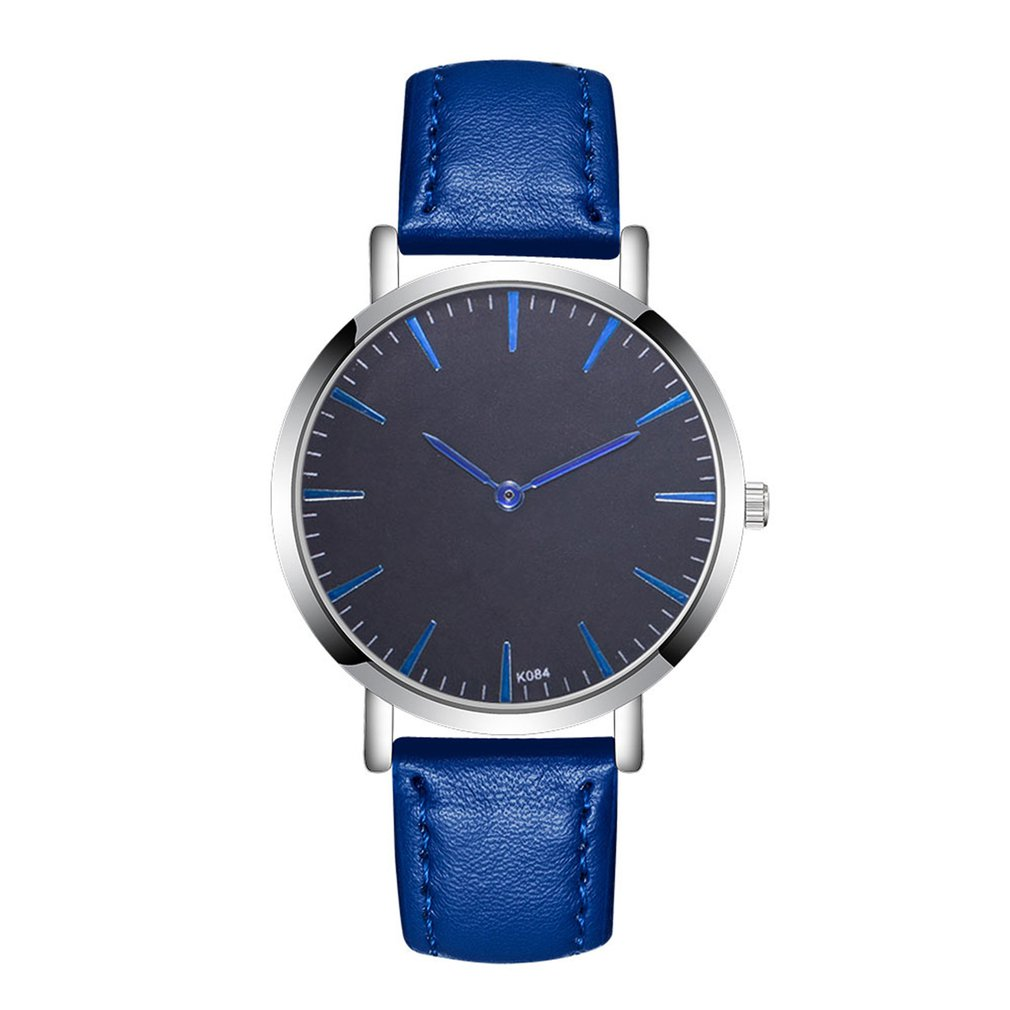 Blue Pin Watches Men Round Dial Wrist Watches Mens Watches Top Brand Business Watch For Men Women Valentine Gifts Clearance