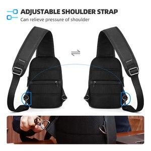 Image 4 - Mark Ryden New Multifunction Crossbody Bag Waterproof Men Sling Chest Bag Fit 9.7 inch Ipad Fashion Shoulder Bag