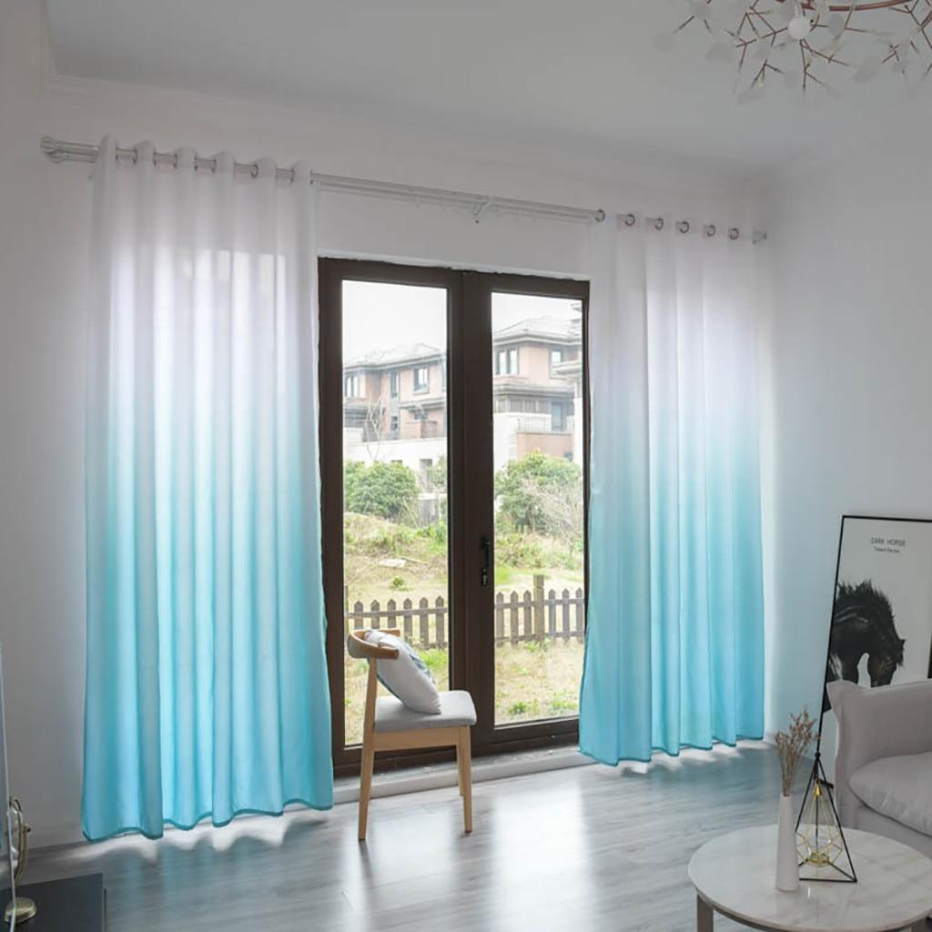 1Panel Gradient Sheer Curtain Tulle Window Treatment Voile Drape Valance Bedroom