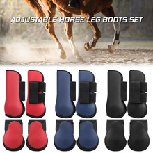Protectors Boots-Set Equestrian-Equipment Equine Horse-Riding Adjustable Front Leg Leg-Guard