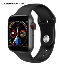 Cobrafly IWO 8 Lite inteligentny zegarek 1 54 cal ekran połączenia Bluetooth Dial odpowiedź aparat ekg do mierzenia tętna serca PK IWO 8 10 zegarki mężczyźni kobiety tanie tanio Brak Na nadgarstku Wszystko kompatybilny 128 MB Passometer Fitness Tracker Sleep Tracker Message Reminder Call Reminder