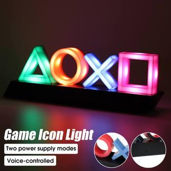 Playstation Teken Voice Control Game Pictogram Licht Acryl Sfeer Neon Ornament Club Ktv Decoratieve Licht Dropshipping