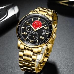 Image 2 - NIBOSI hommes montres 2020 nouveau bleu haut marque de luxe hommes sport chronographe montre hommes montres à Quartz horloge Relogio Masculino