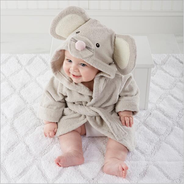 New Style Robe Flannel Cartoon Animal Modeling Men And Women CHILDREN'S Bathrobes Baby Pajamas Soft Tracksuit Pajamas