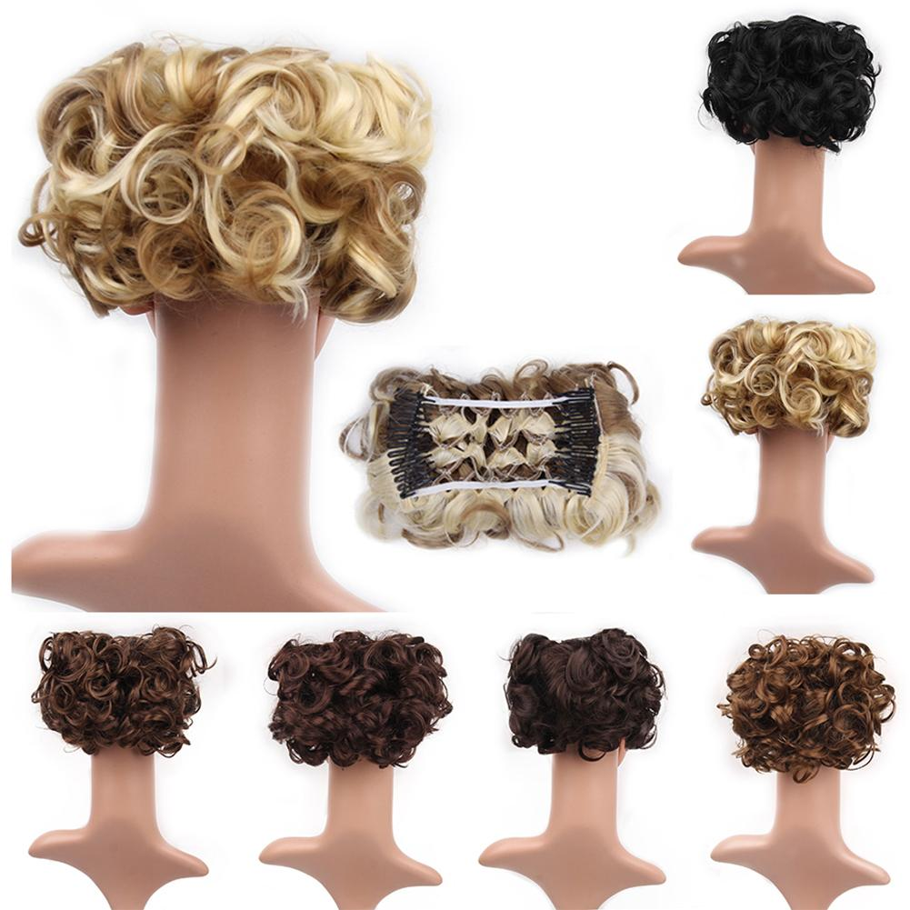 Scrunchie Wrap Messy Hair Bun Chignon Short Ponytail Extension Curly Wave Clip Washable And Very Comfortable, Easy To Use.