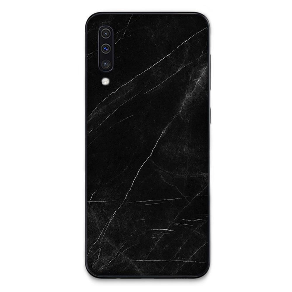Mermer siyah beyaz taş desen estetik kauçuk telefon kapak için Samsung S6 S7 kenar S8 S9 S10 e artı A10 a50 A70 note8 J7 2017