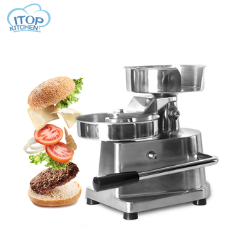 100mm-30mm Manual Hamburger Press Forming Burger Patty Meat shaping Stainless Steel Hamburguesas Machine Household Commercial zica 5inch 130mm manual hamburger press burger forming machine round meat shaping aluminum machine forming burger patty makers