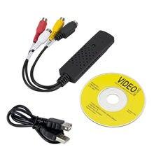 Usb 2.0 easycap capturar 4 canais de vídeo tv dvd vhs áudio adaptador de captura cartão tv vídeo dvr